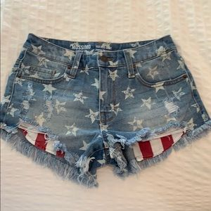 mossimo star jean shorts